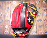 "Wilson A2K ""DATDUDE"" Brandon Phillips Game Model 11.5"" Baseball Glove - Red/Gunmetal/Yellow (2014 GM)"