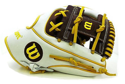 "Wilson A2K 1786 Limited Edition Japan 11.5"" glove - White/Brown/Yellow"