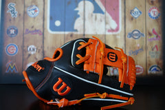 "Wilson A2000 Limited Edition 11.5"" - Orange/Black"