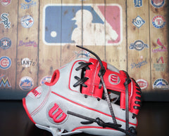 "Wilson A2000 DP15 11.5"" Limited Edition Baseball Glove - Gray/Red"
