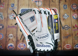 "Wilson A2000 DP15 11.5"" Limited Edition Baseball Glove - White/Orange"