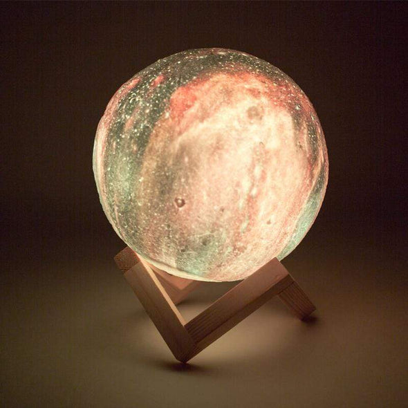Galaxy Print Moon Lamp - NextgenHype