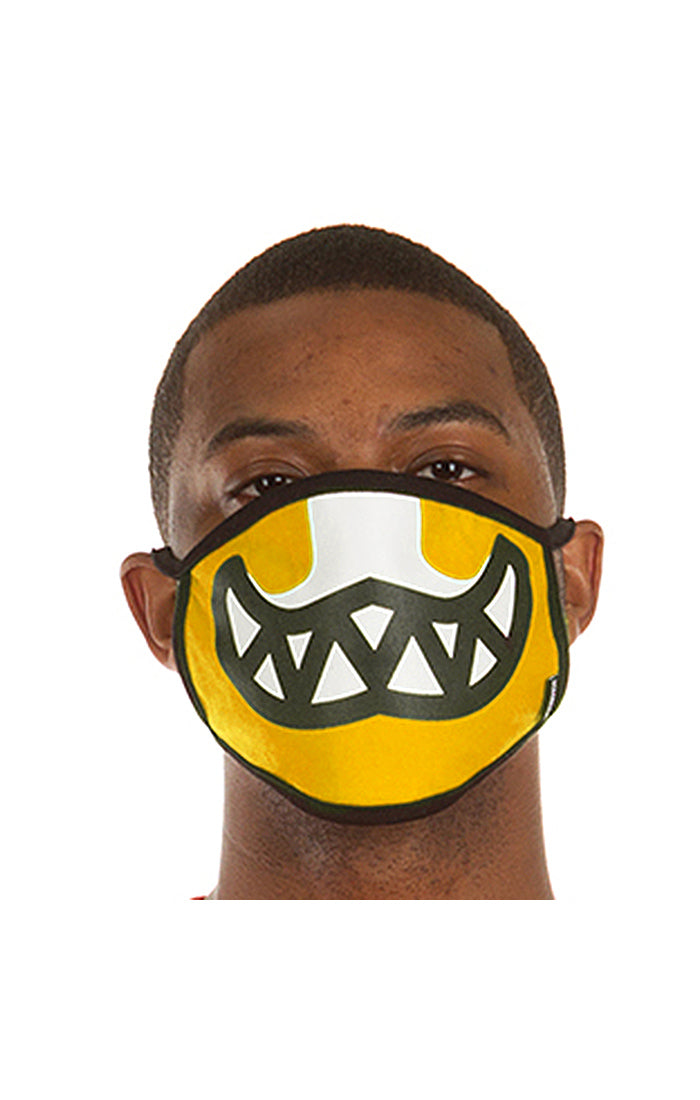 Ice Cream Grin Face Mask in Radiant Yellow