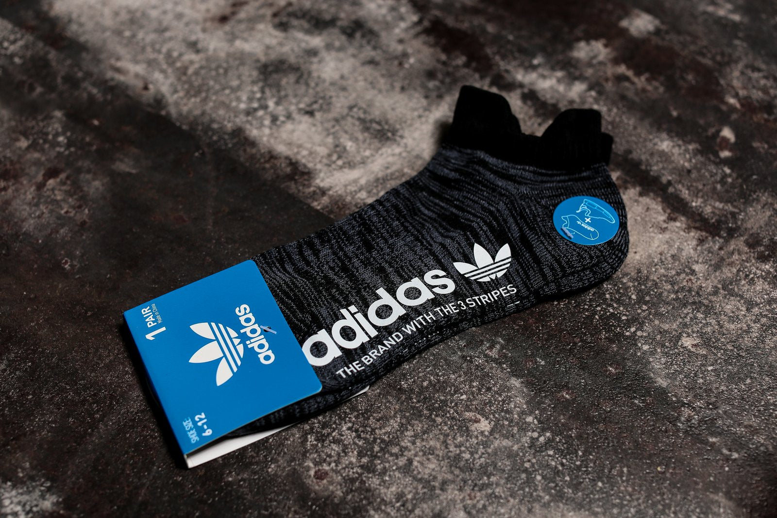 ADIDAS MENS ORIGINAL NMD SINGLE BLACK SOCKS