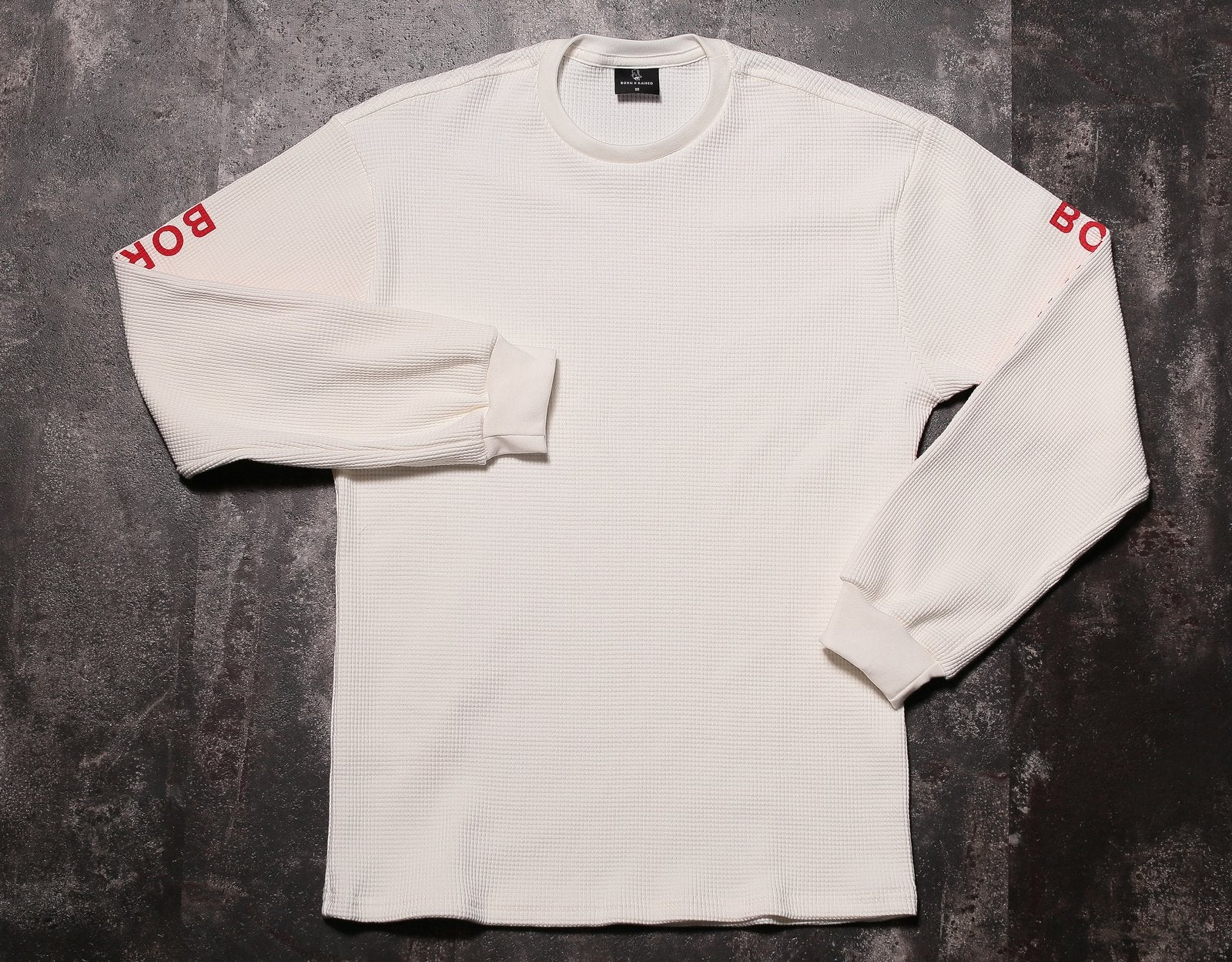 BORN x RAISED TURF TALK L/S CREW NK TEE
