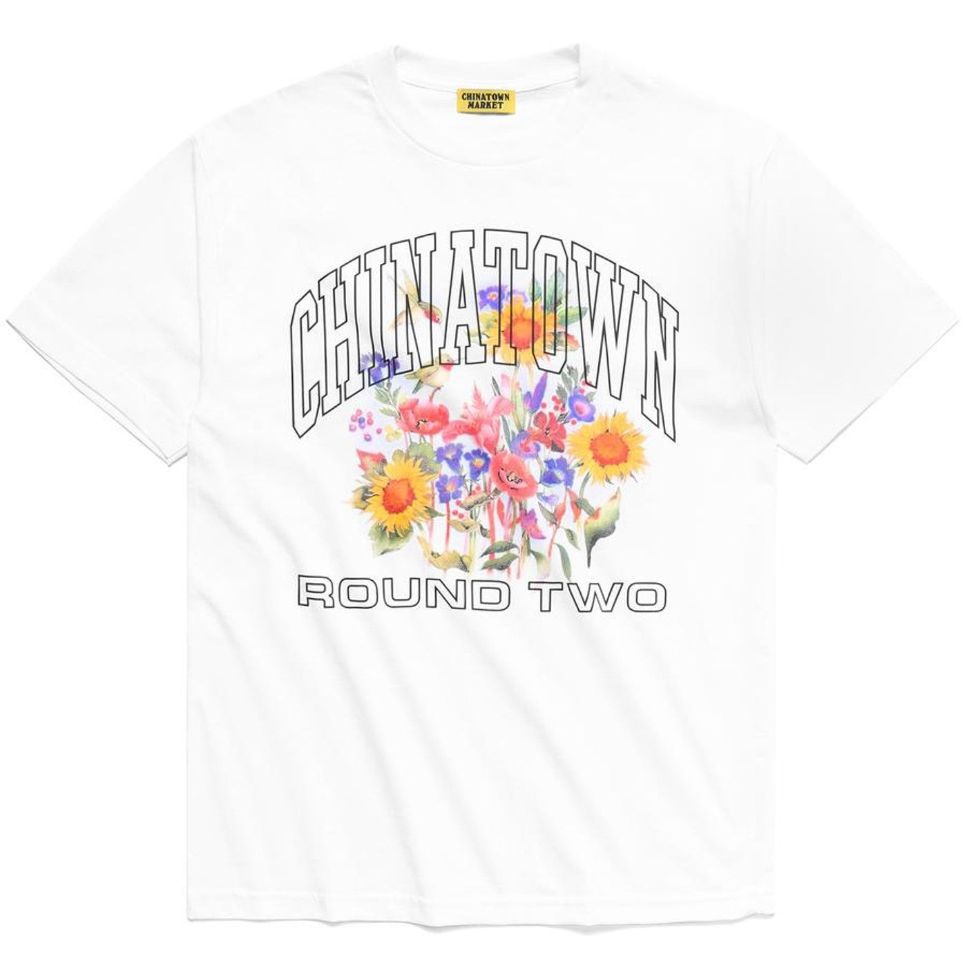Chinatown Market x Round Two UV flowers shirt