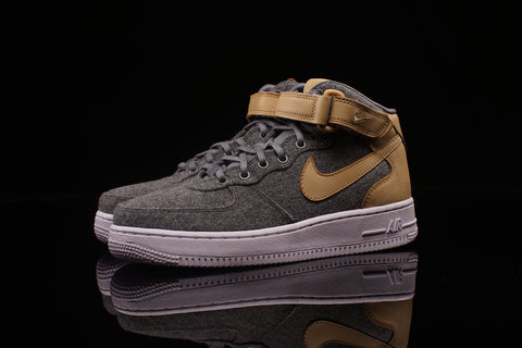 Womens AIR FORCE 1 '07 MID LTHR PRM