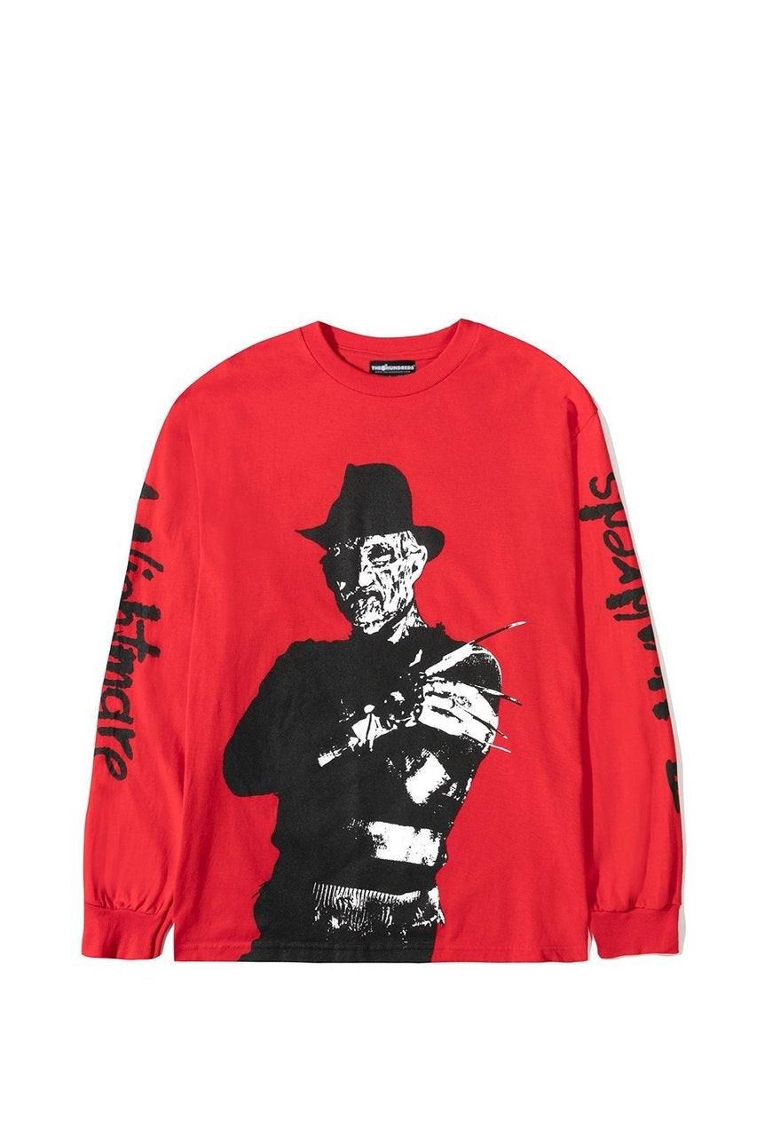The Hundreds Freddy Long Sleeve in Red xld