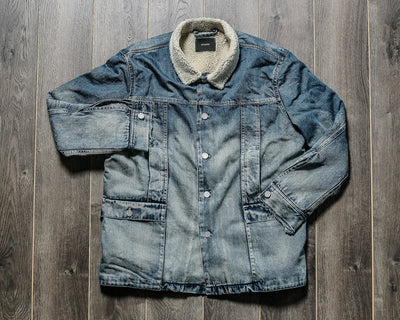 STAMPD - FAUX SHEARLING DENIM JACKET