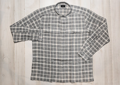 STAMPD - LINEN POCKET PLAID SHIRT