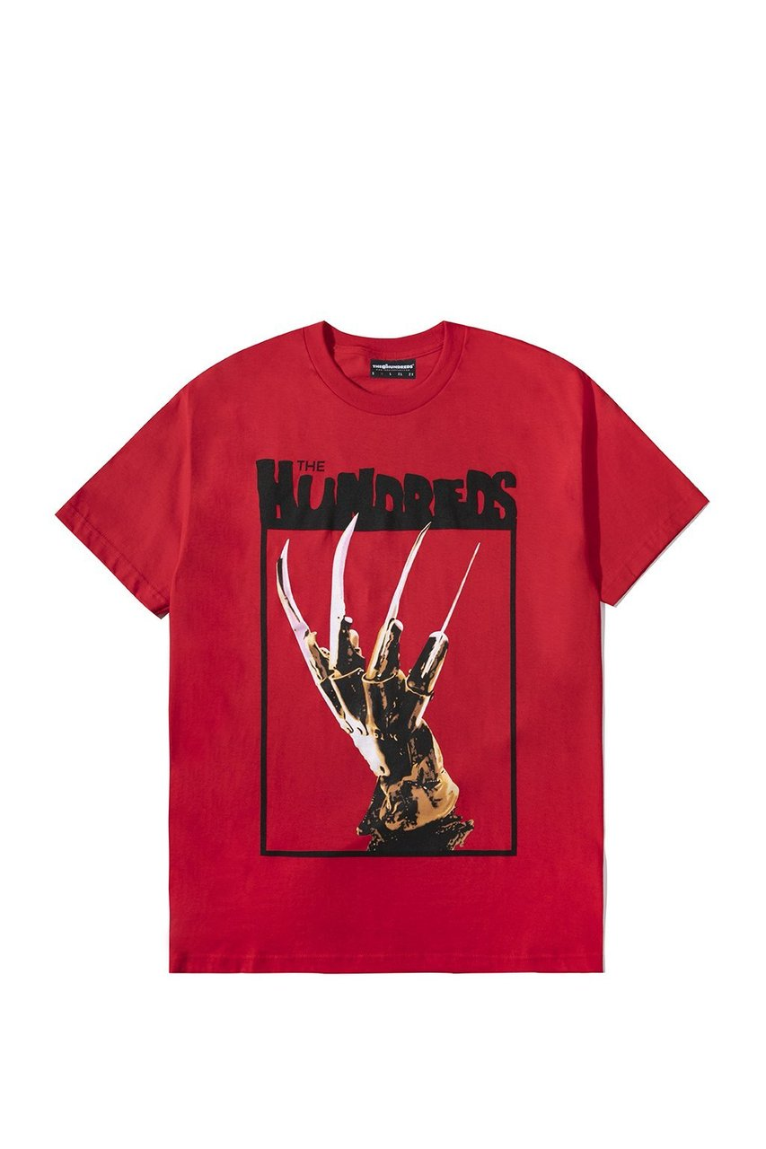 The Hundreds Kruger Hand T-Shirt in Red xld