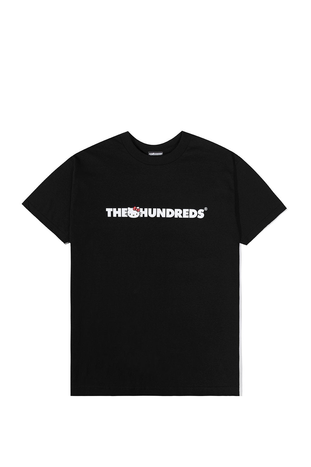 The Hundreds x Sanrio Kitty Bar Logo T-Shirt in Black xld