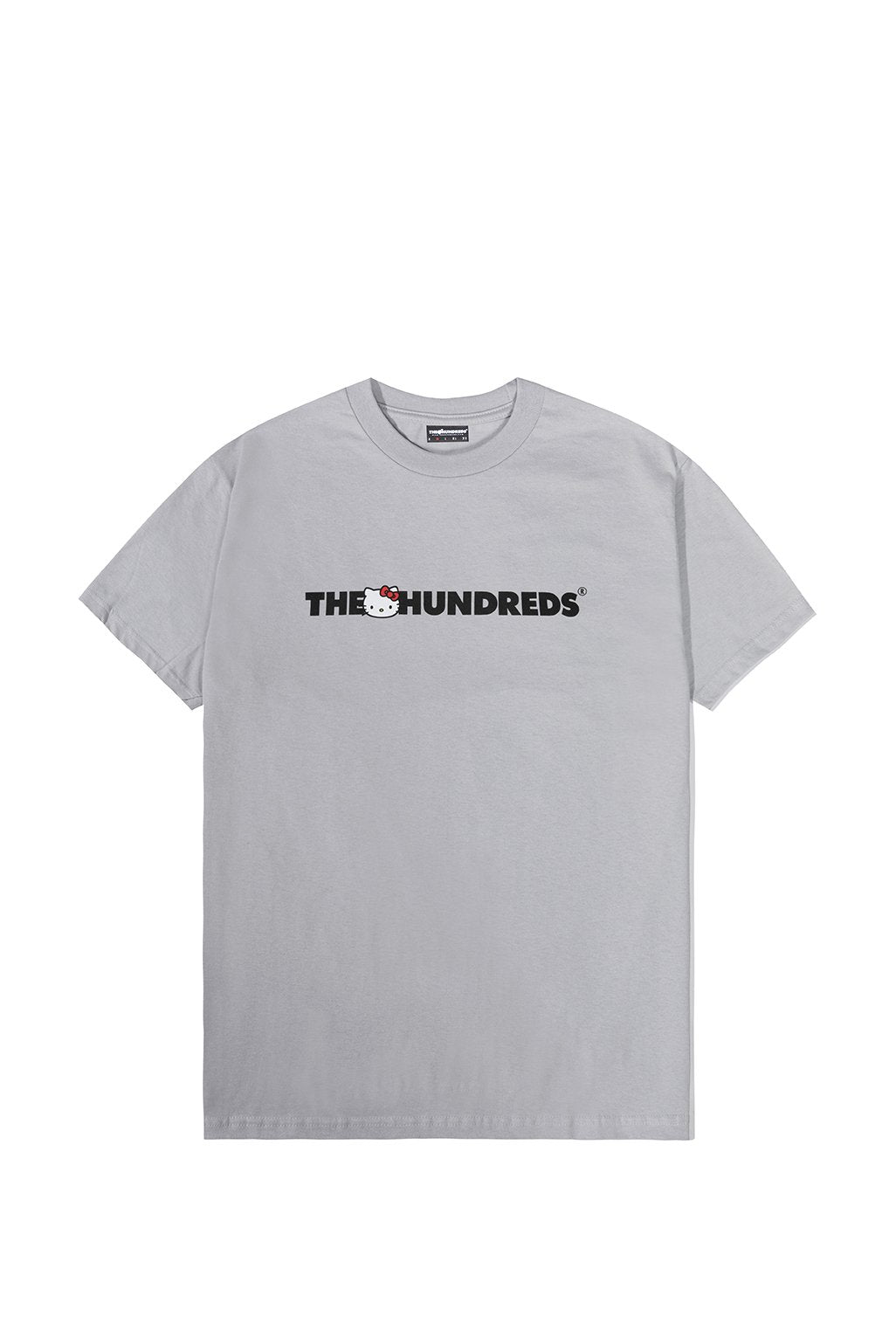 The Hundreds x Sanrio Kitty Bar Logo T-Shirt in Silver xld
