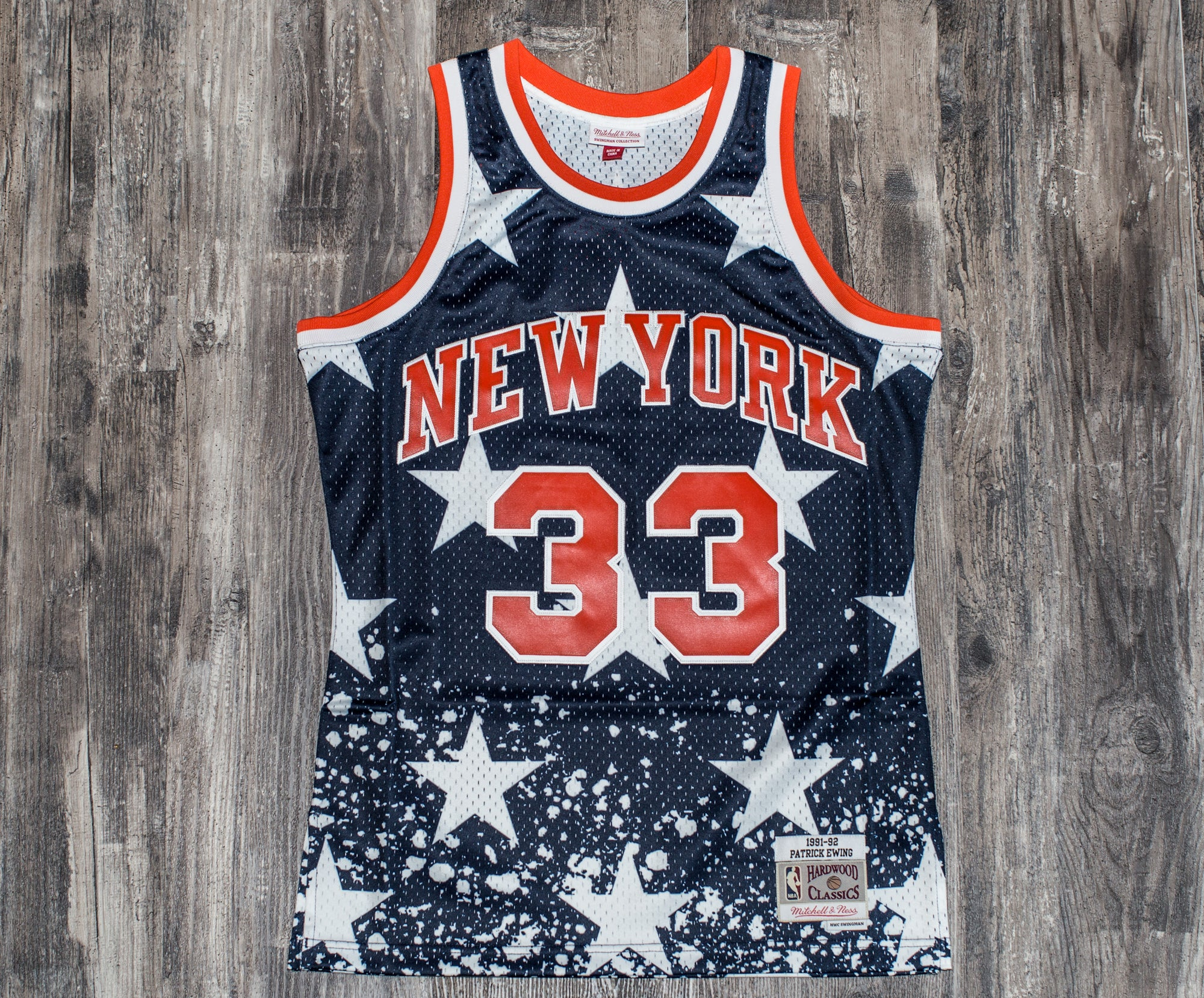 best sneakers ecae7 80628 MITCHELL & NESS 4TH OF JULY JERSEY 1991 KNICKS (Patrick Ewing)