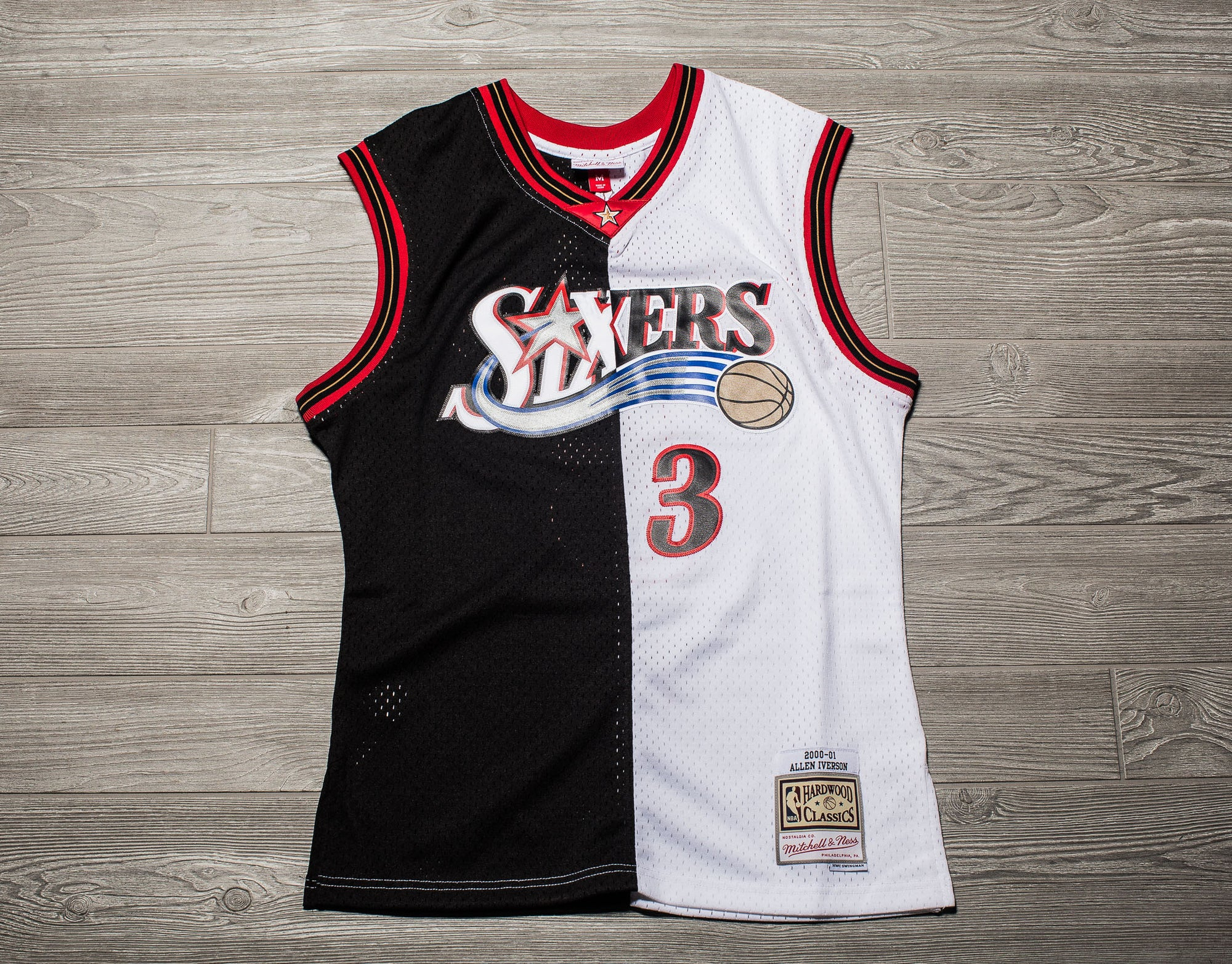 Oneness Boutique - Swingman 76ers Jersey Ness Split amp; Nba Mitchell