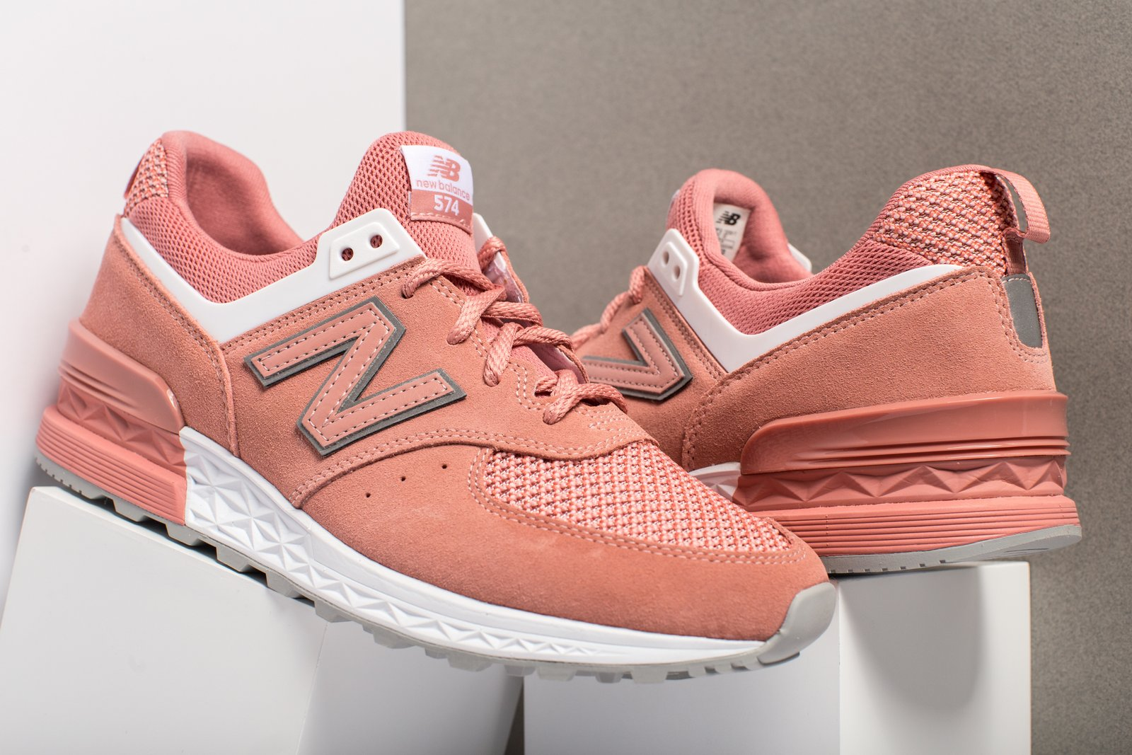 New Balance MS574STP - Pink/White free shipping outlet locations 19Xym