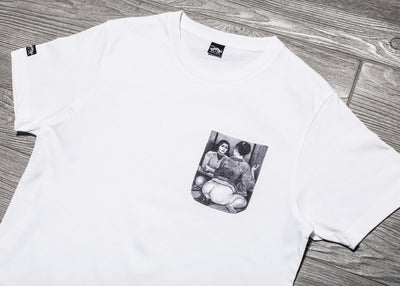MADE IN PARADISE FACE UP POCKET TEE