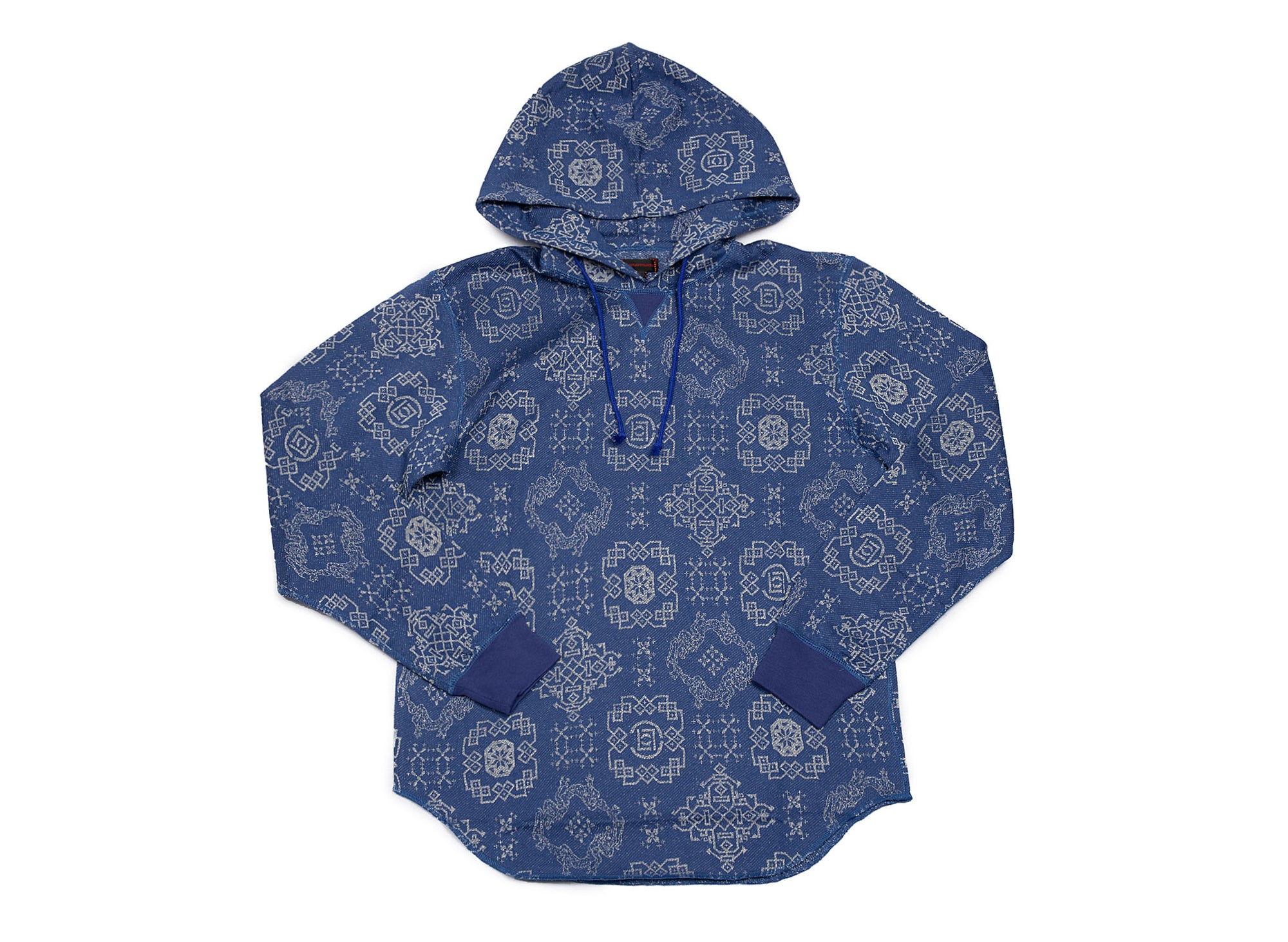 CLOT - pattern sweat hood blue