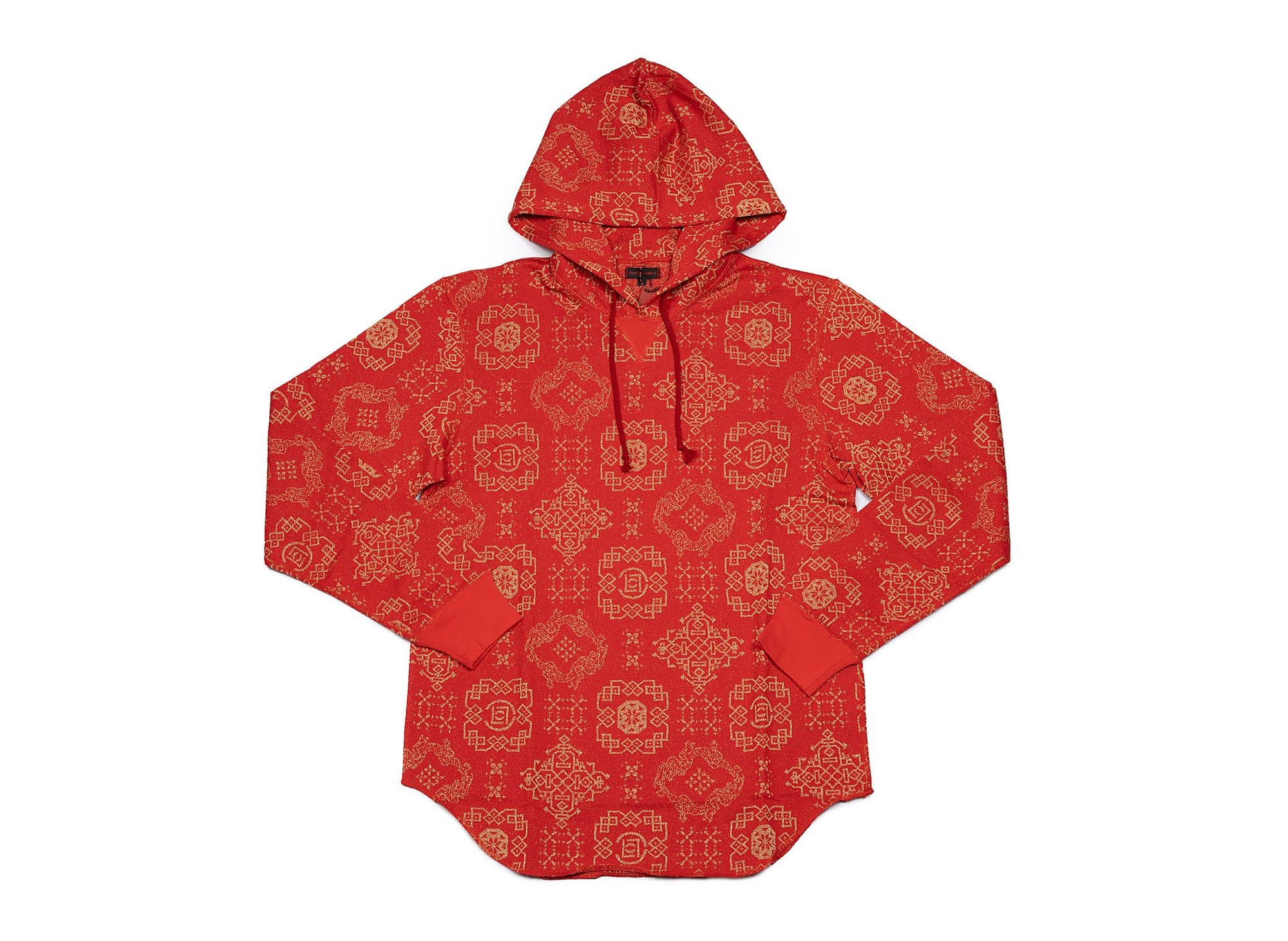 CLOT - pattern sweat hood red