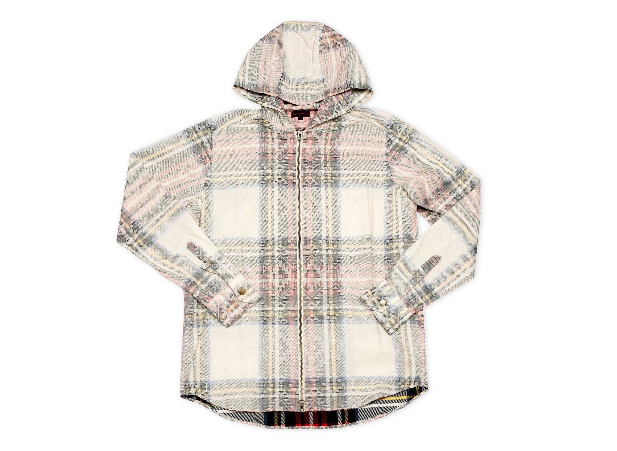 CLOT - Plaid hooded zip up