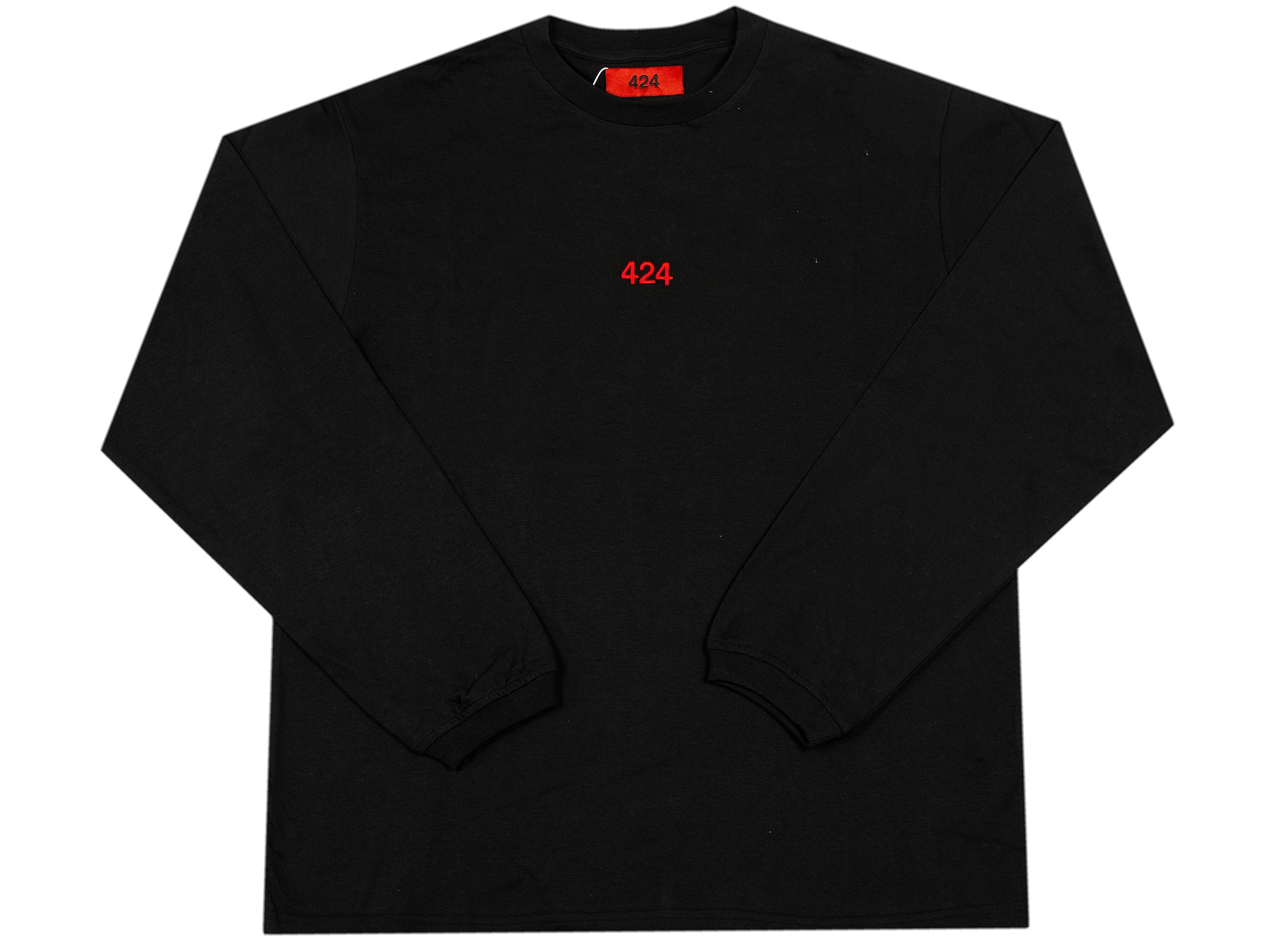 424 Long Sleeve T-Shirt in Black