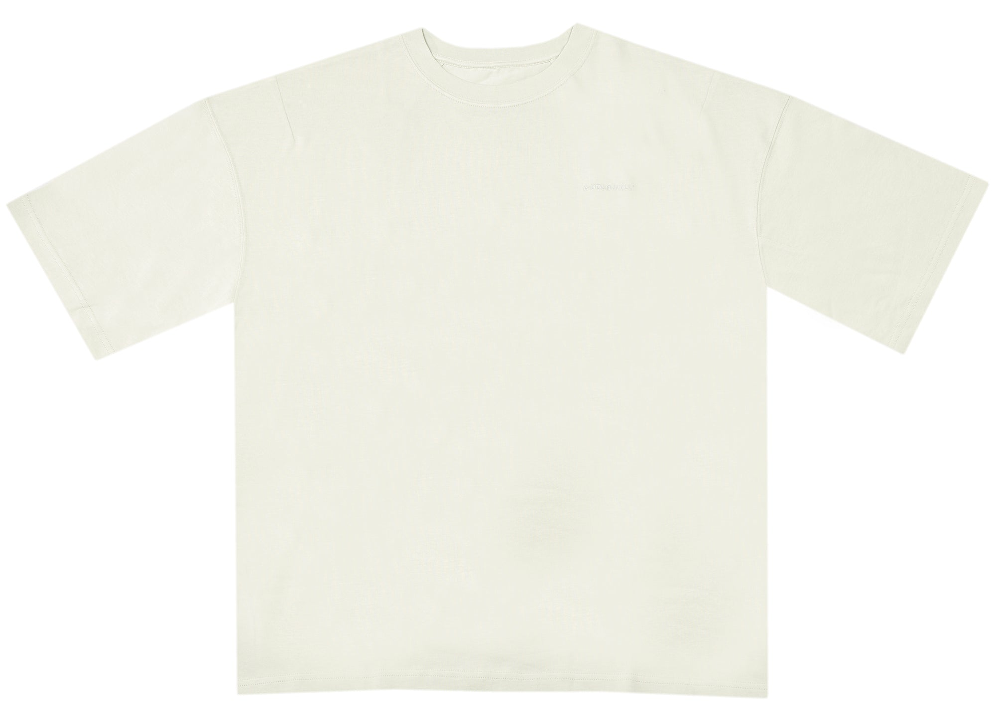 A-COLD-WALL* Embroidered Logo Tee in Chalk xld