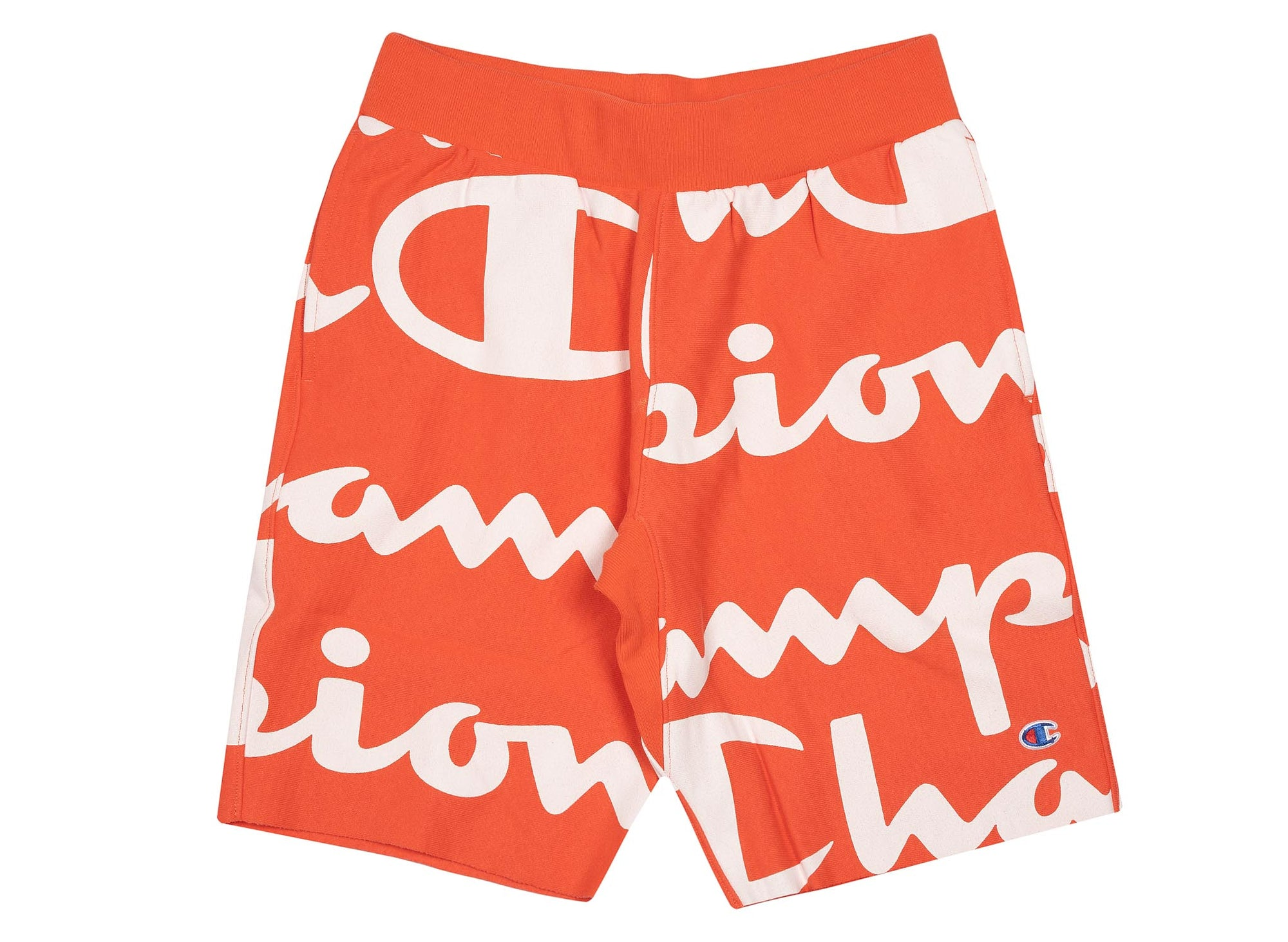 Champion Men's Reverse Weave Cut-Off Shorts 'All Over Print' - Groovy Papaya