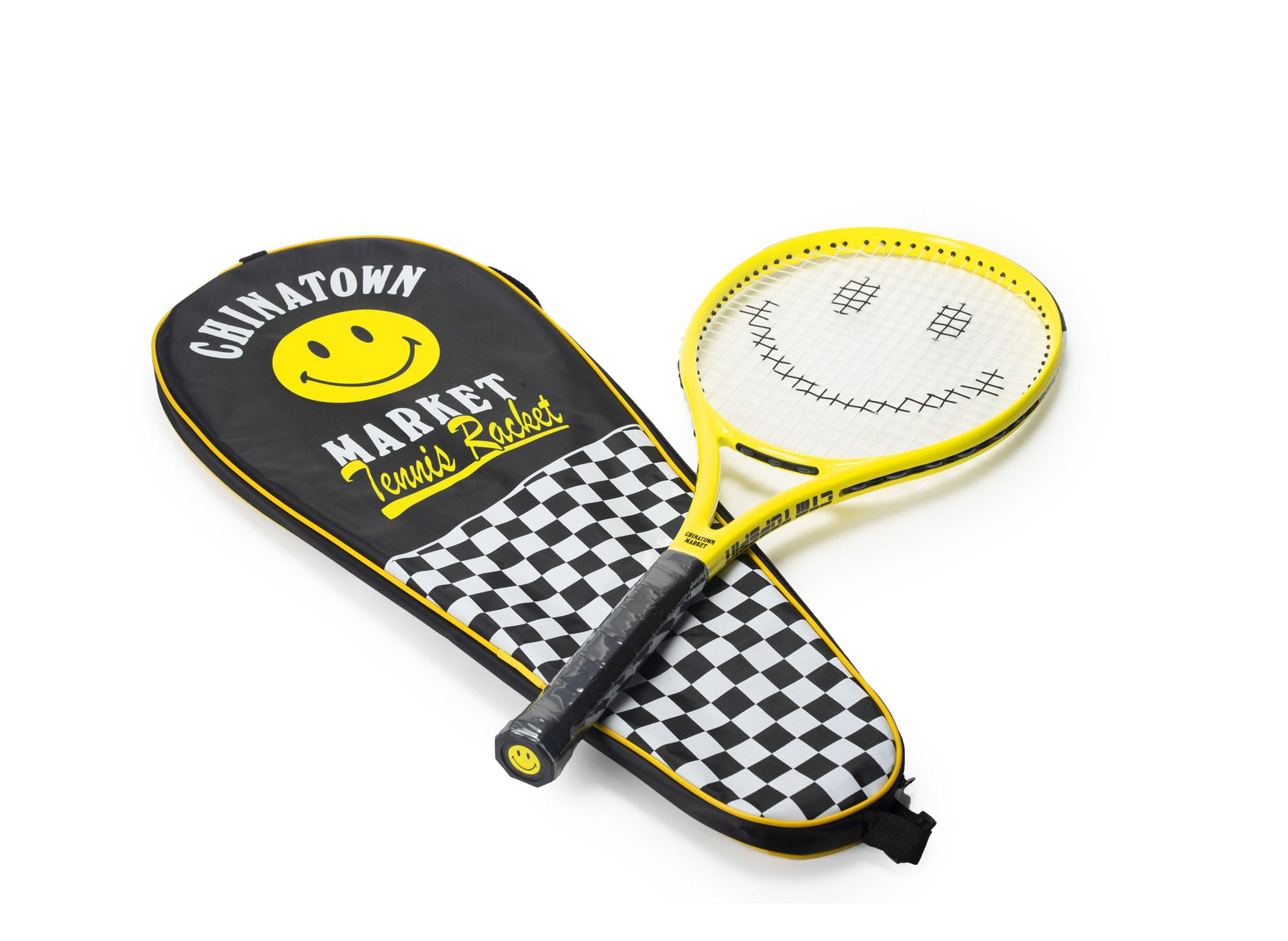 CHINATOWN MARKET SMILEY TENNIS RACKETS