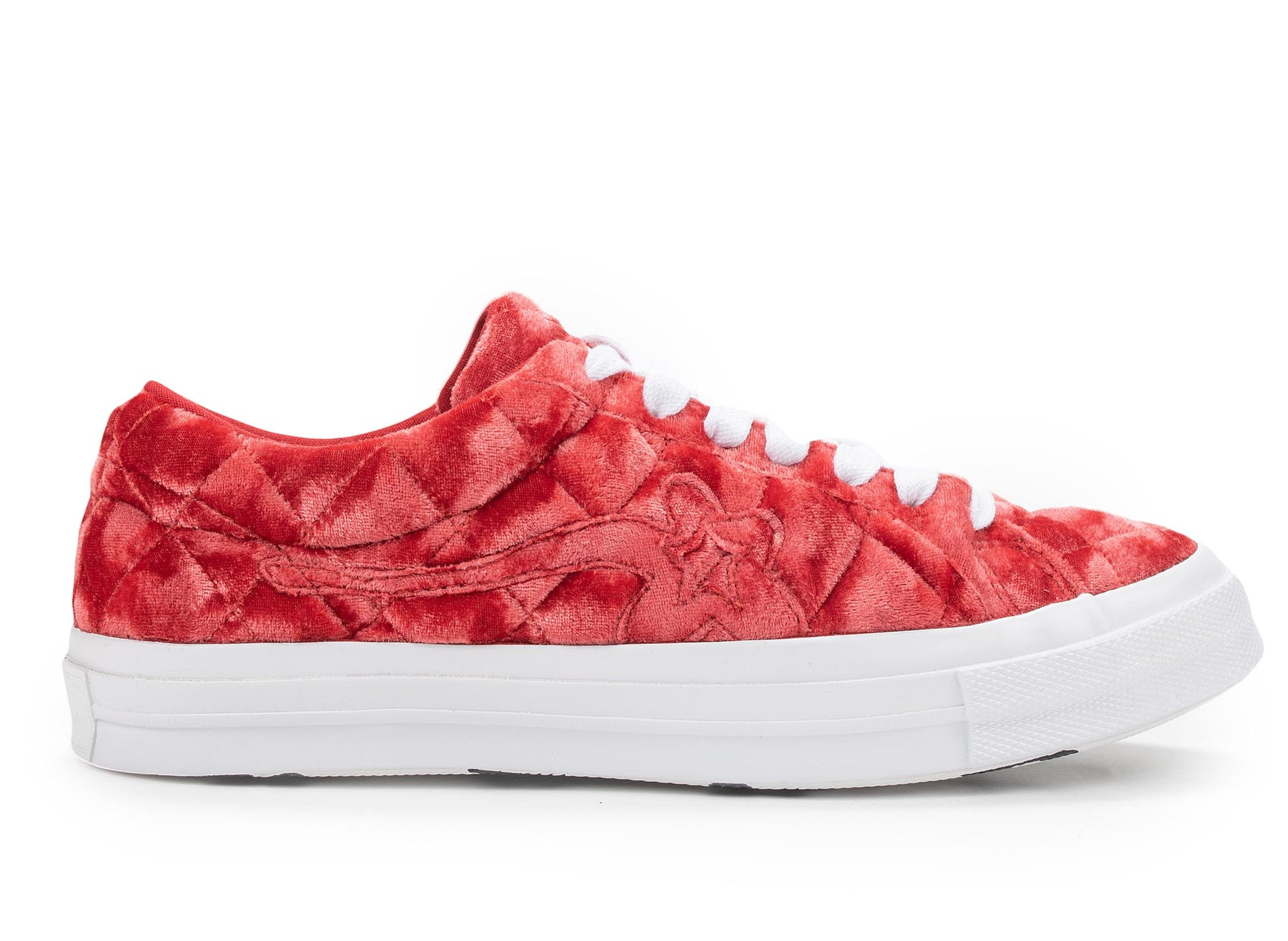 Converse One Star Ox Golf Le Fleur TTC Quilted Velvet 'Barbados Cherry'