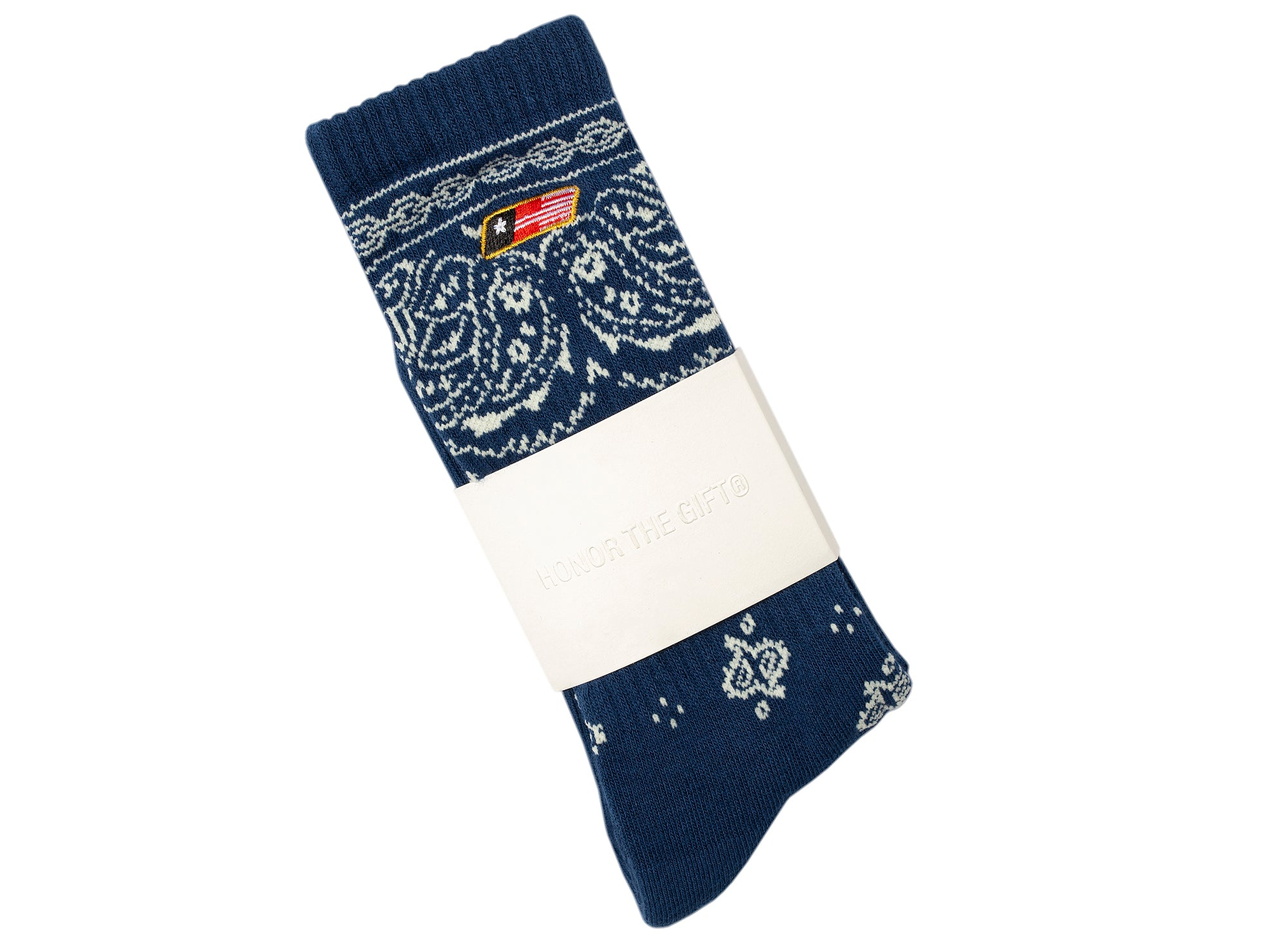 Honor the Gift Bandana Socks in Navy xld