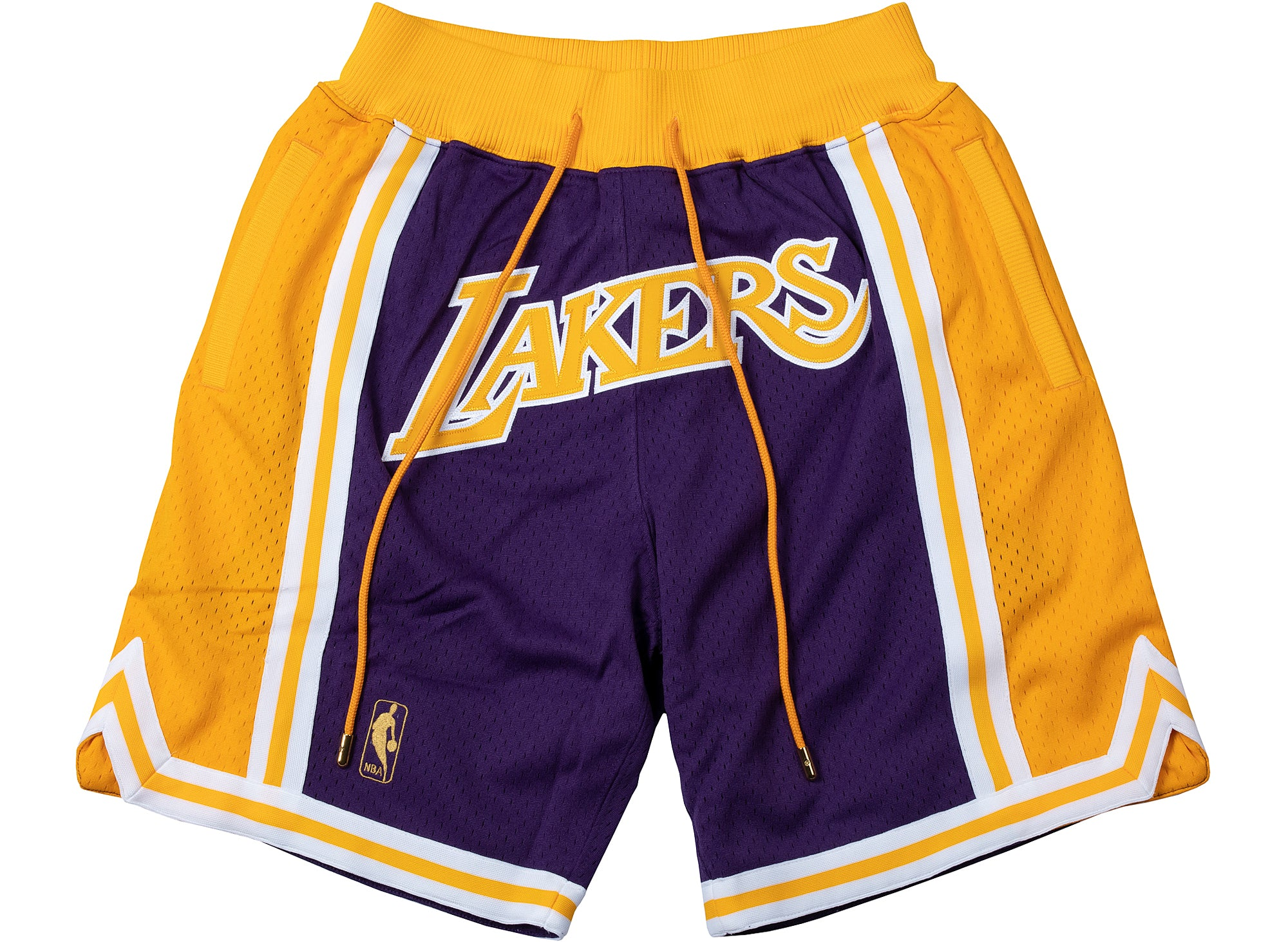 Just Don x Mitchell & Ness LOS ANGELES LAKERS 1996-97 ROAD SHORTS xld