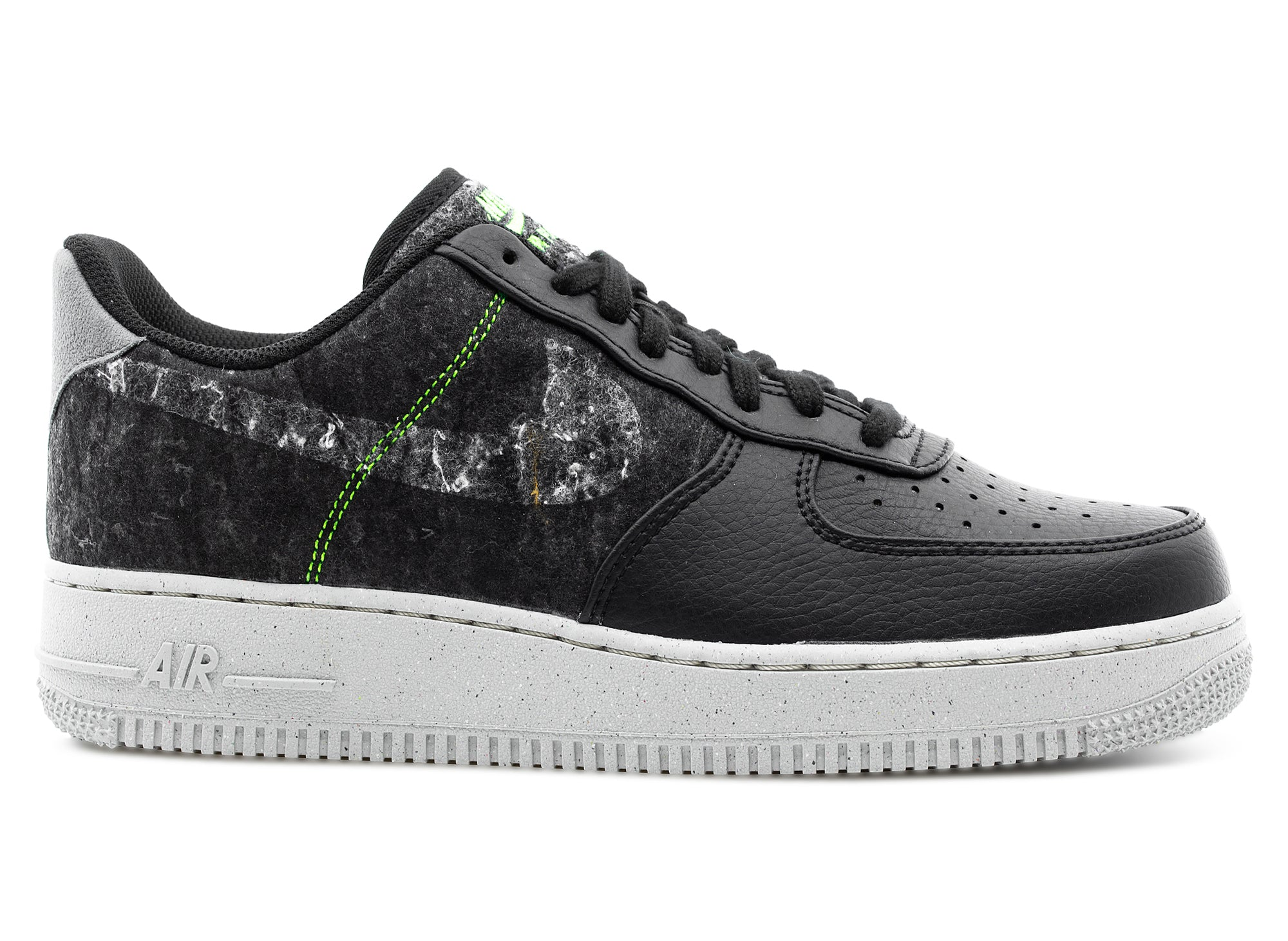 Nike Air Force 1 '07 LV8 Recycled Wool Pack 'Black Electric Green'