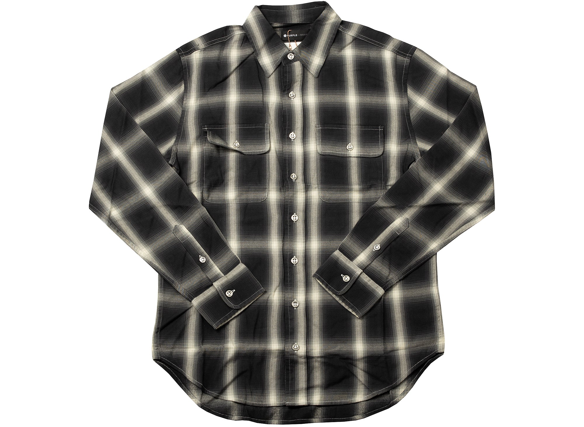 Purple Brand Bleached Red Plaid Flannel