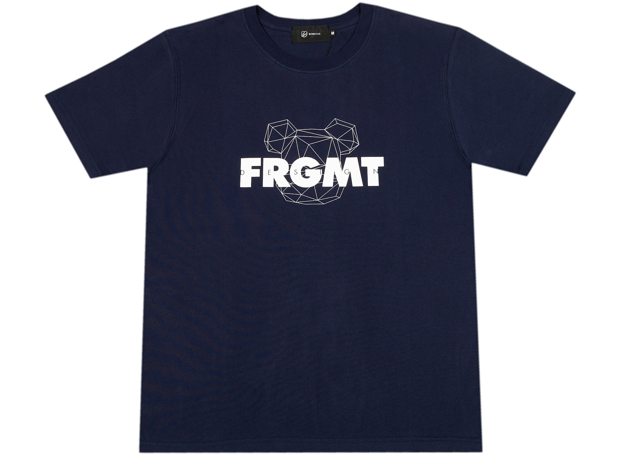 Medicom Toy Be@rtree x fragmentdesign 2020 Spray Logo Tee in Navy xld