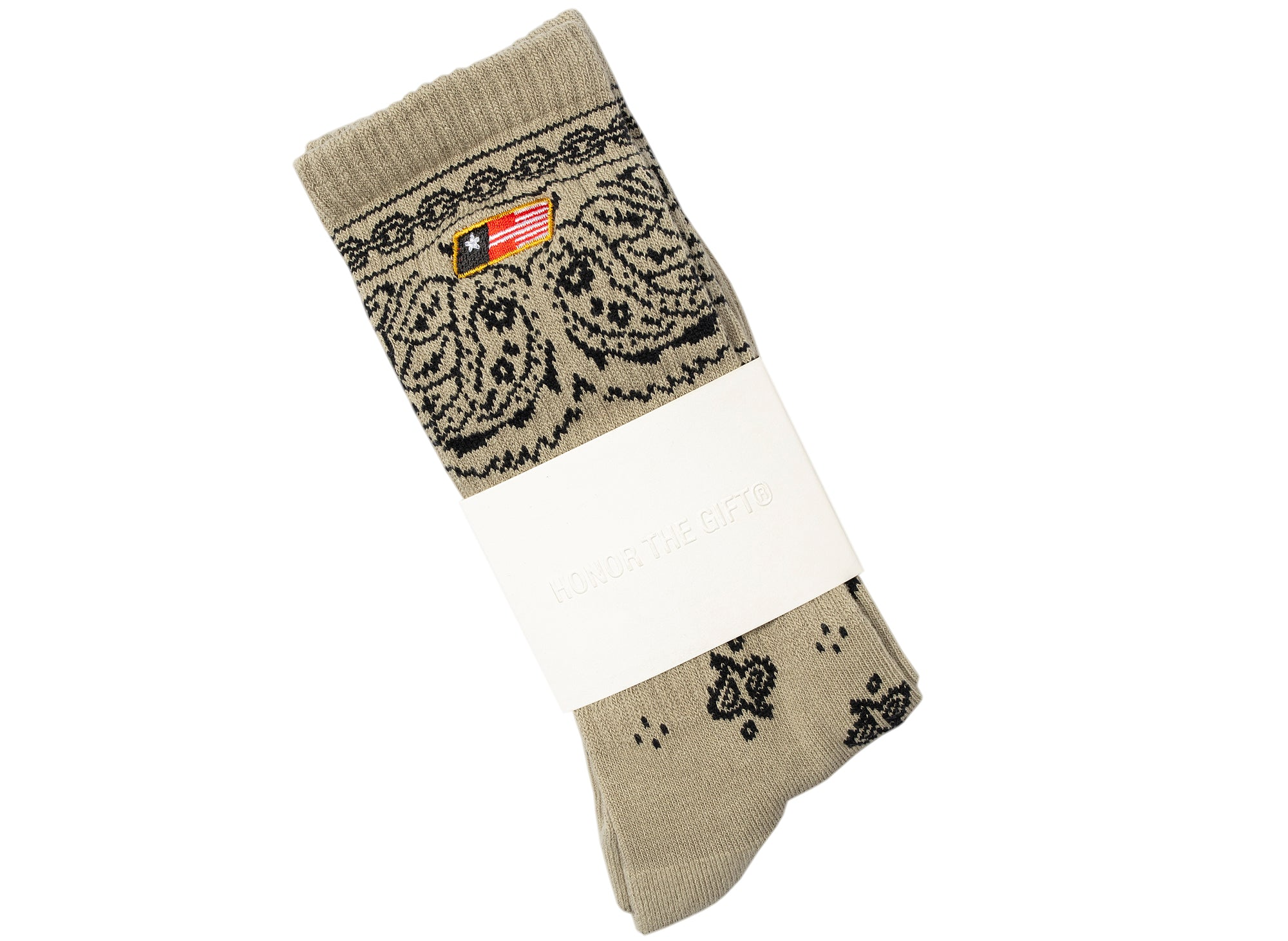 Honor the Gift Bandana Socks in Khaki xld