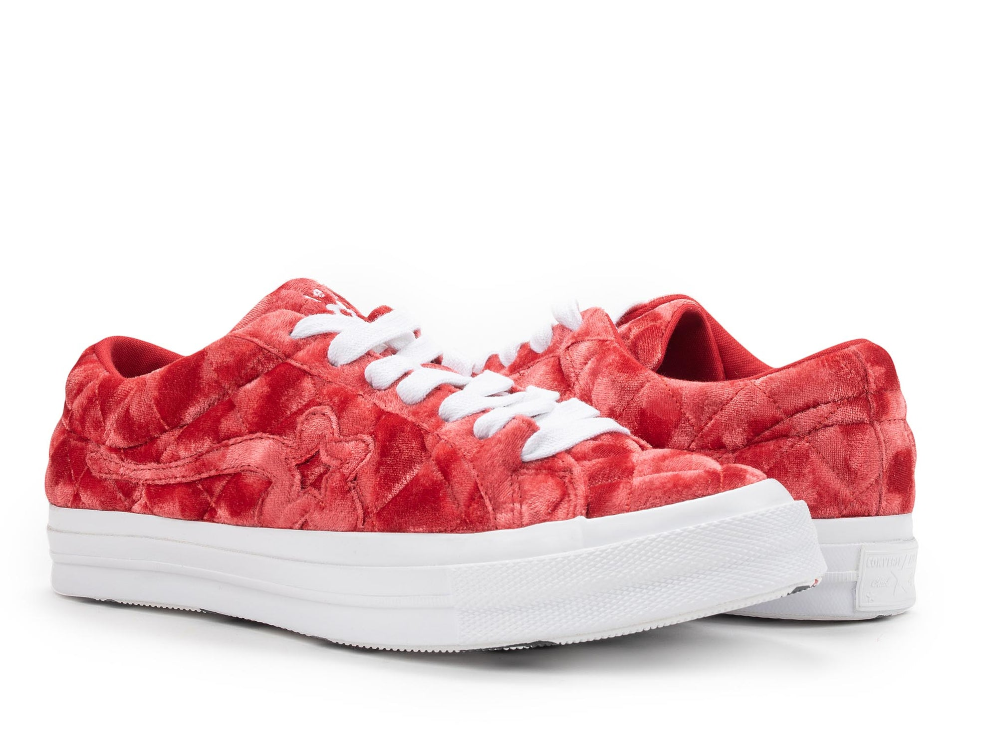 Converse One Star Ox Golf Le Fleur Ttc Quilted Velvet Barbados Cherry Oneness Boutique