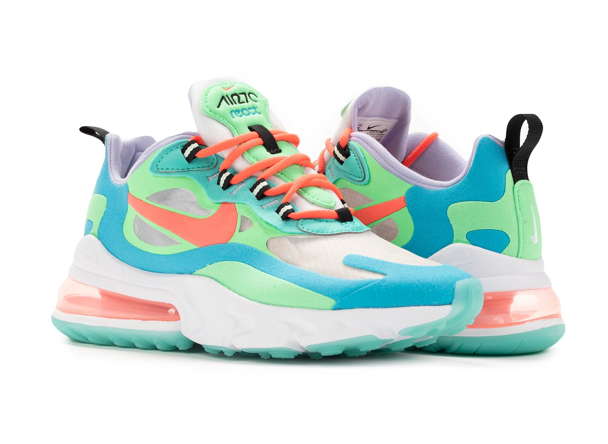 save off 429c3 8f3fd Nike Air Max 270 React Women's 'Electro Green'