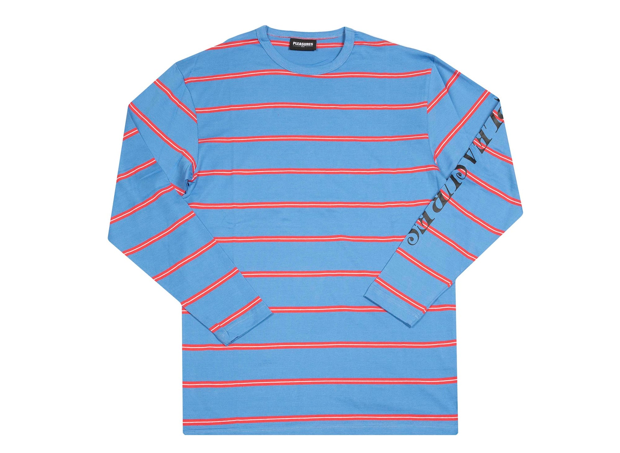 PLEASURES Scream Striped LS Bright Blue
