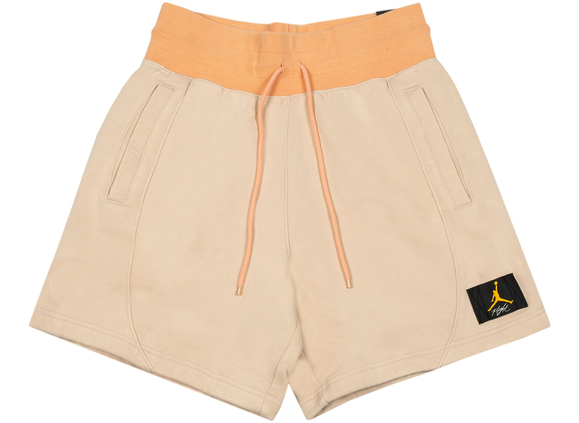 Women's Jordan Flight Fleece Shorts in Apricot / Biege xld