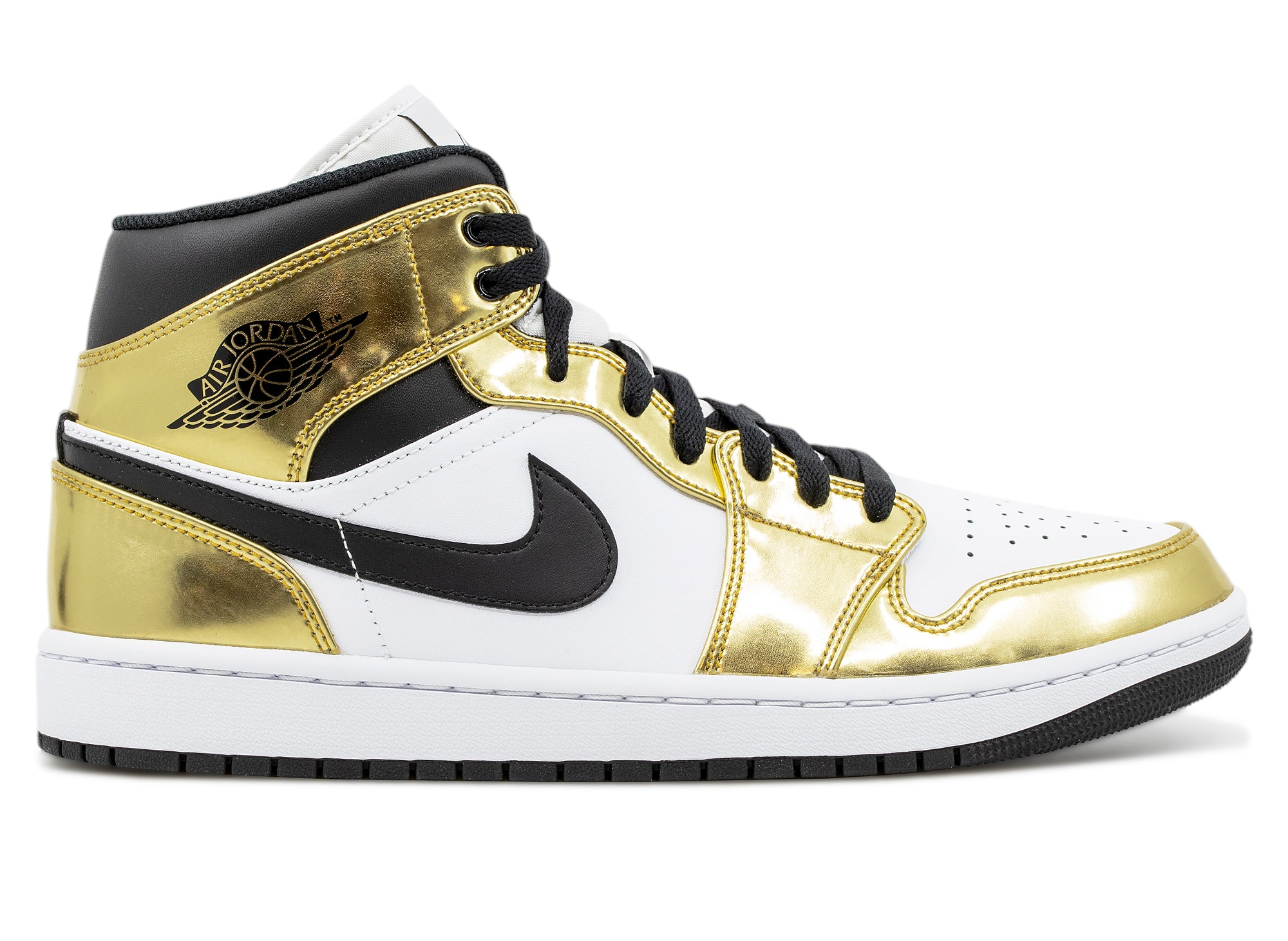 Air Jordan 1 Mid SE 'White Metallic Gold'