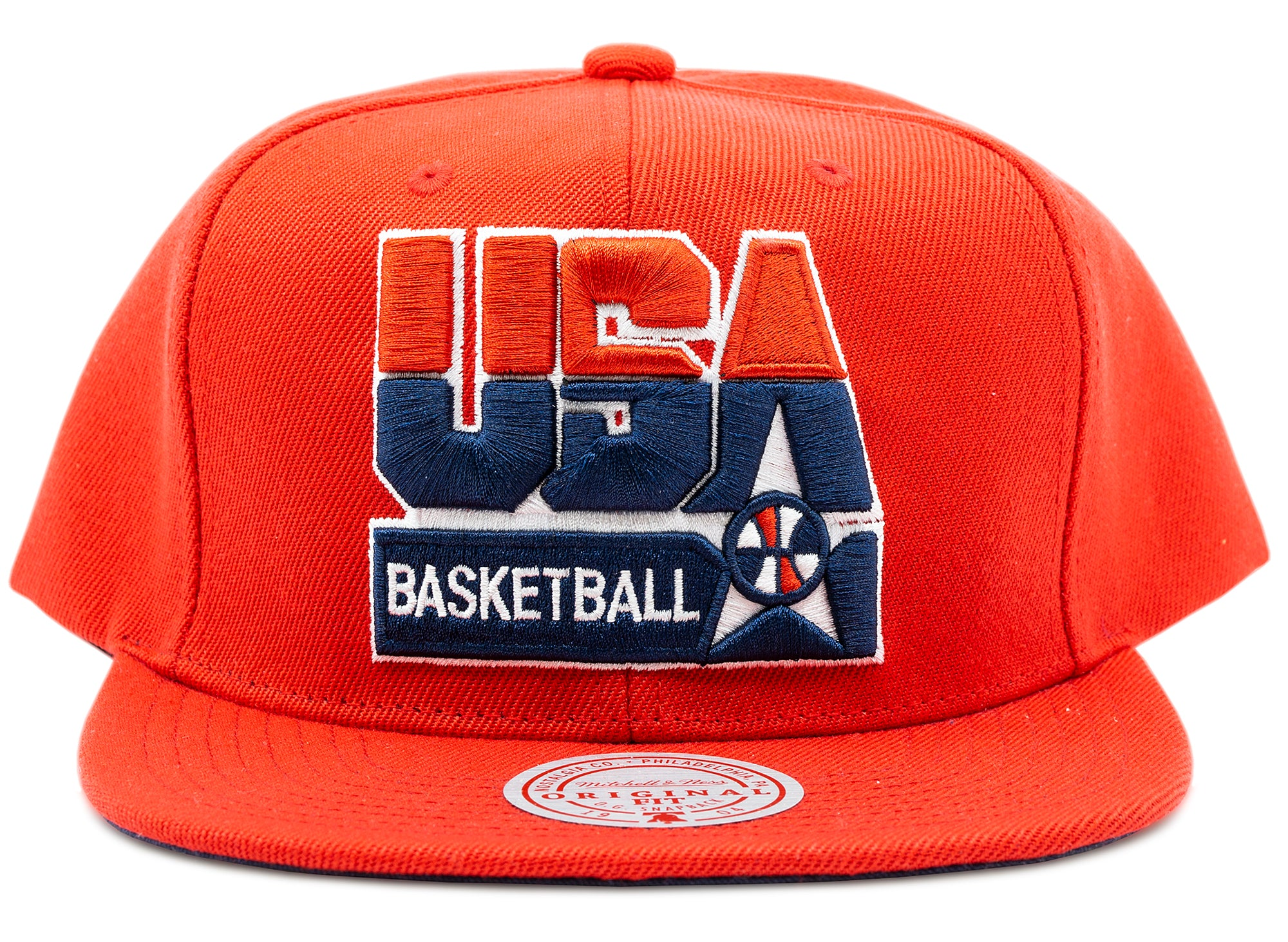 Mitchell & Ness USA Basketball Snapback Team USA in Red