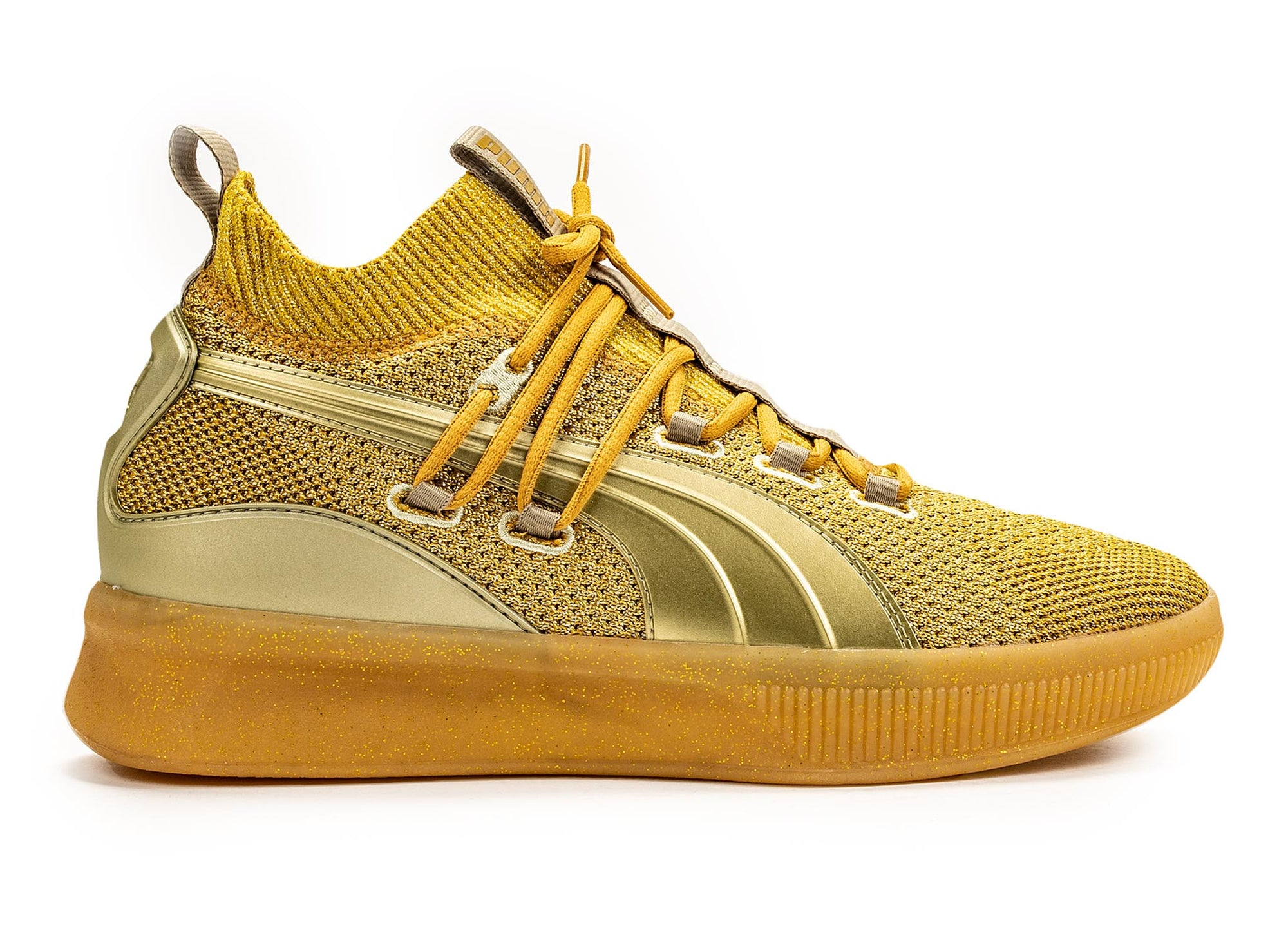 PUMA Clyde court metallic gold