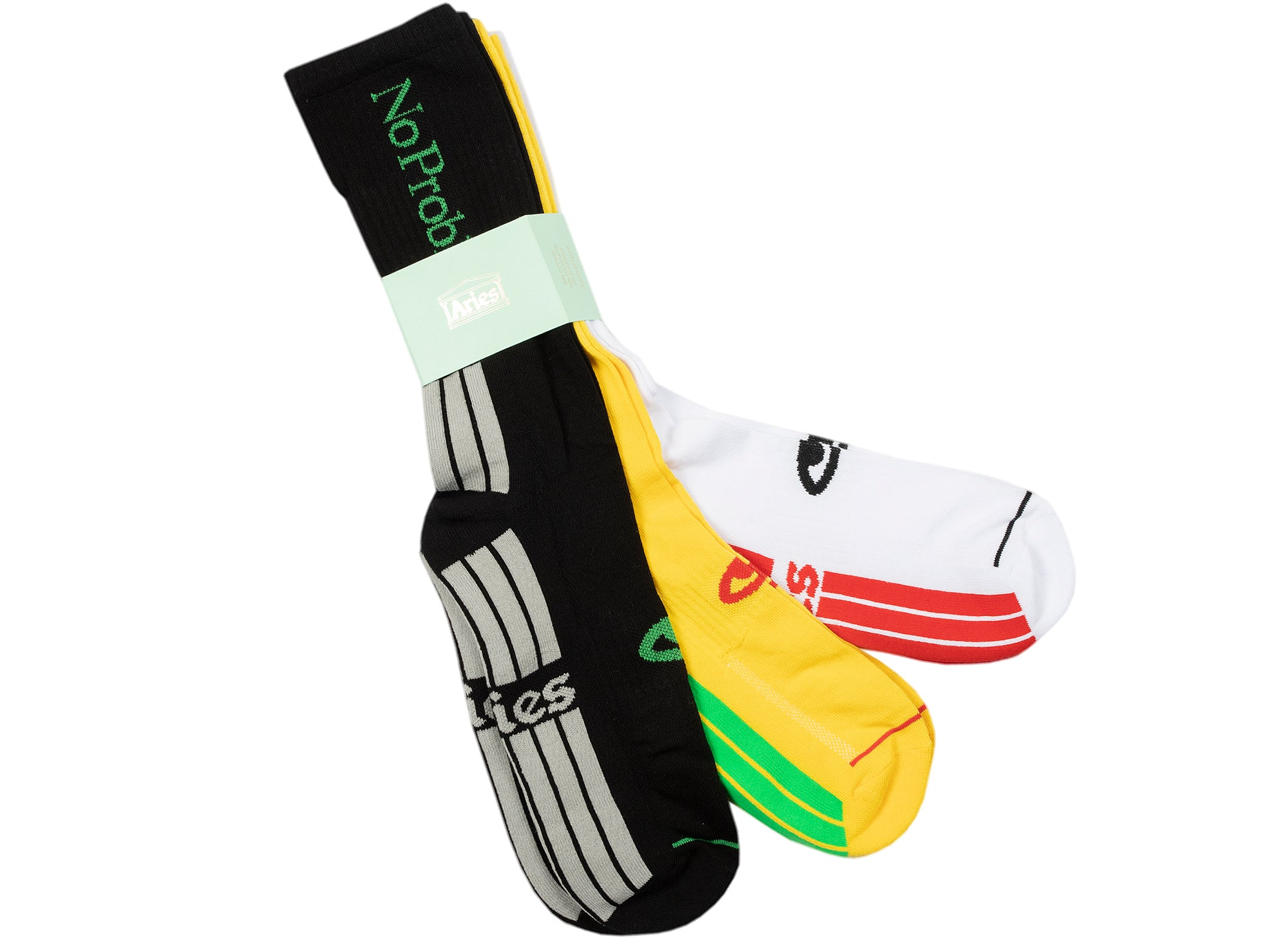Aries 3-Pack No Problemo Socks xld