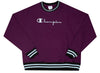 Champion Premium Reverse Weave Yarn Dye Rib Trim Crewneck 'Vetetian Purple'