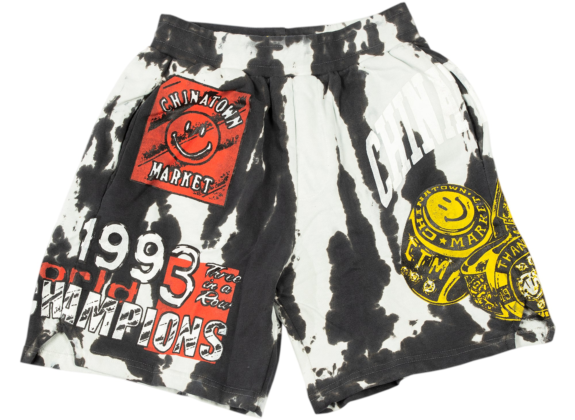 Chinatown Market Smiley Champion 3 Rings Tie-Dye Shorts xld