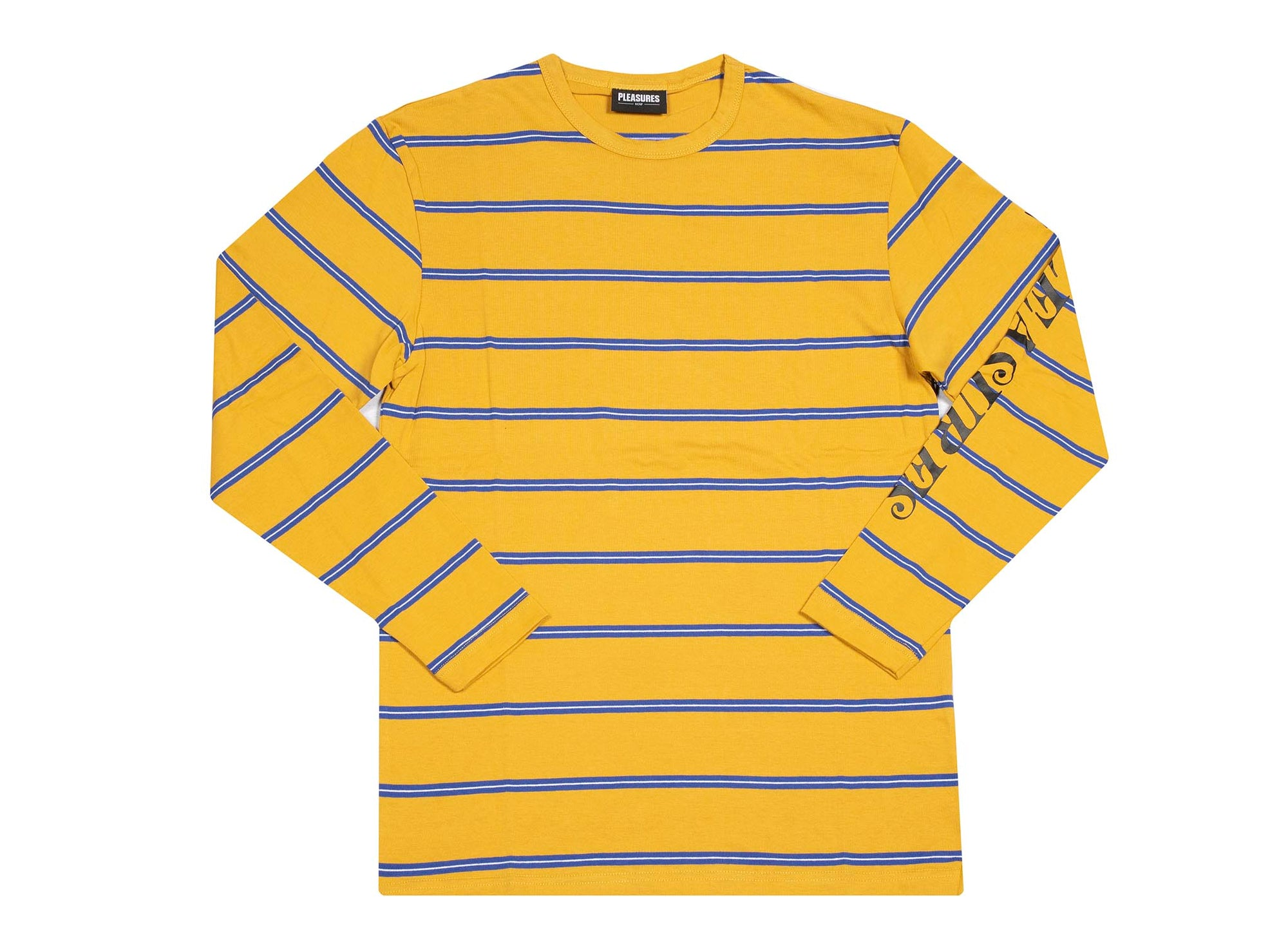PLEASURES Scream Striped LS Mustard