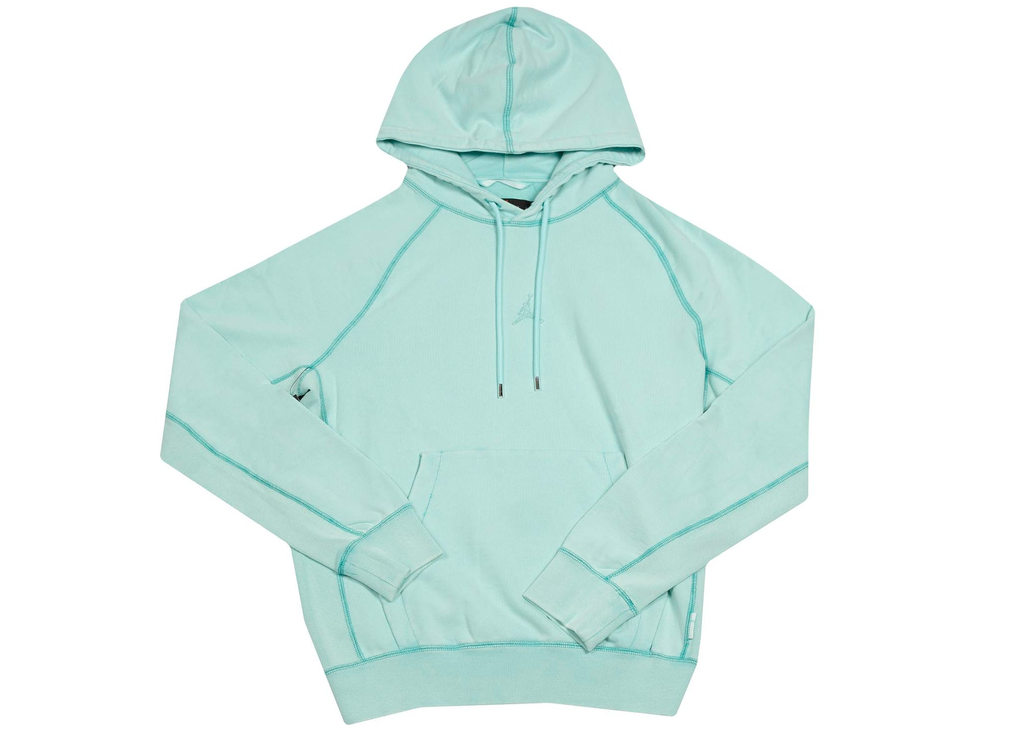 M J WINGS WASH FLC PULLOVER LIGHT AQUA
