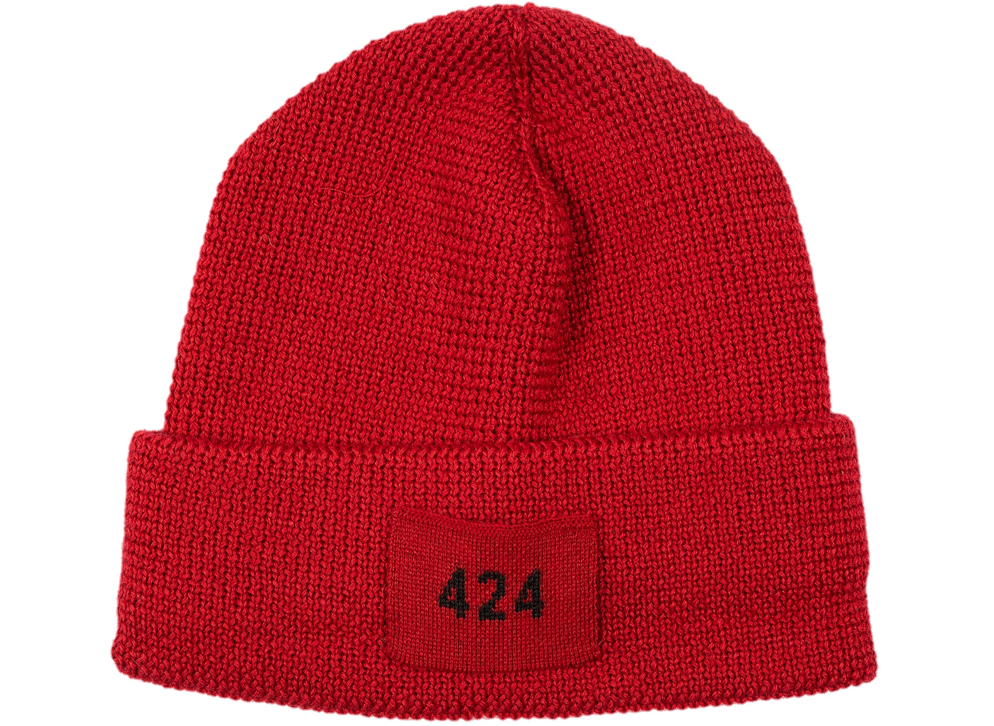 424 Ribbed Hat in Red