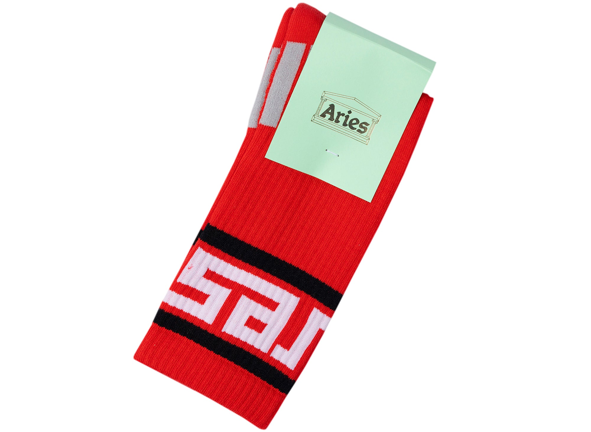 Aries Meandros Socks in Red