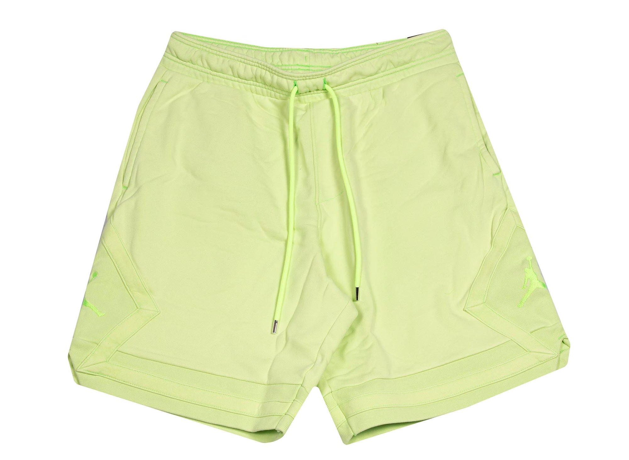 M J WINGS WASH FLC SHORT GHOST GREEN